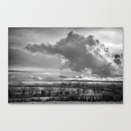 Towering Clouds Over Wiltshire Canvas Print