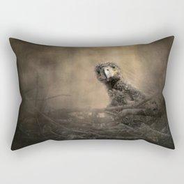 Lone Eaglet In The Nest Rectangular Pillow