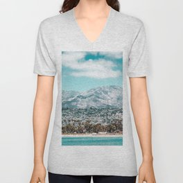 Houses are not allowed past the middle of that mountain. Unisex V-Neck