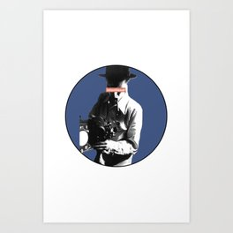 the filmaker Art Print