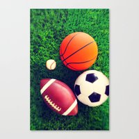 sports Canvas Prints featuring SPORTS by Ylenia Pizzetti