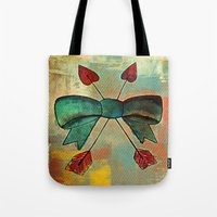 bow Tote Bags featuring Bow by Kerri Swayze