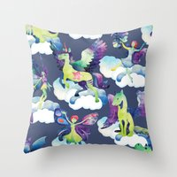 Fly into my dreams Throw Pillow