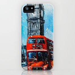 LONDON RAIN iPhone Case