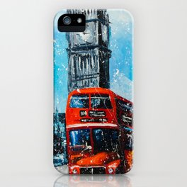 LONDON RAIN iPhone Case
