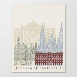 Santiago de Compostela skyline poster Canvas Print
