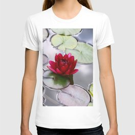 Dark Red Water Lily T-shirt