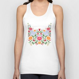 Hungarian folk pattern – Kalocsa embroidery flowers Unisex Tank Top