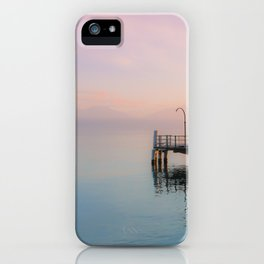 A Suspended Moment In Time Over The Lake iPhone Case