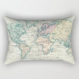 Vintage Map of The World (1801) Rectangular Pillow
