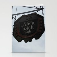 ale giorgini Stationery Cards featuring Ale 'n 'Wich by Caitlin