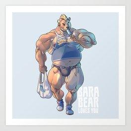 Bara Bear Blue Art Print