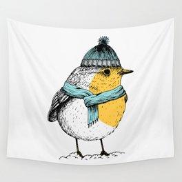 Winter bird Wall Tapestry
