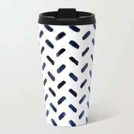 Blue Indigo Series - Stroke Pattern Travel Mug