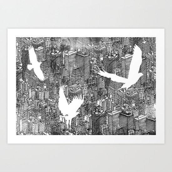 Ecotone (black & white) Art Print