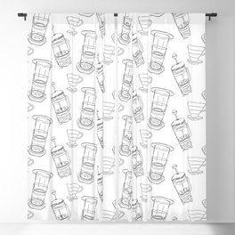 Coffee Brewing Pattern Blackout Curtain