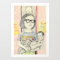 ghost world Art Prints featuring ghost world by withapencilinhand
