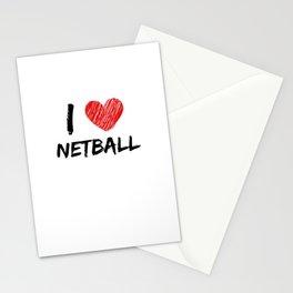 I Love Netball Stationery Cards