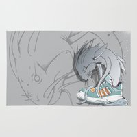 sneaker Area & Throw Rugs featuring Sneaker Monster by Hexstatic