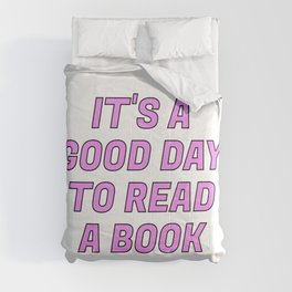 It's a Good Day to Read a Book pink Comforters