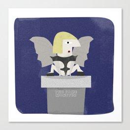 Lady Gagoyle Canvas Print