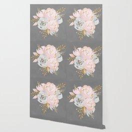 Night Rose Garden Gray Wallpaper