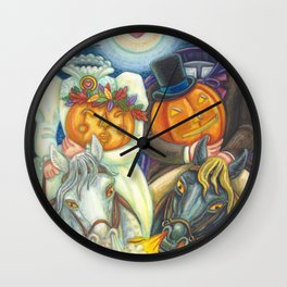 SLEEPY HOLLOW WEDDING - Brack Headless Horseman Halloween Art Wall Clock