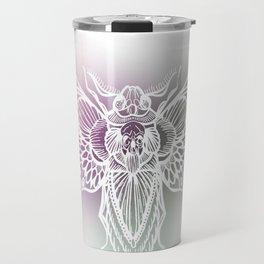 Botanical Moth, Moth Art, Succulent Hues Travel Mug