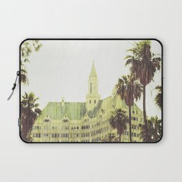 Vintage Retro De-Saturated Architectural Villa Riviera Historical Colored Wall Art Framed Print Laptop Sleeve