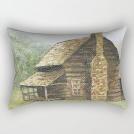 Log Cabin in Smokies Rectangular Pillow