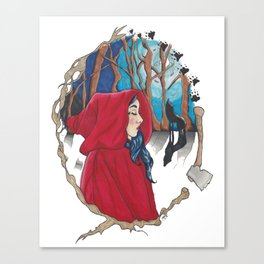 Red Riding Hood. Canvas Print