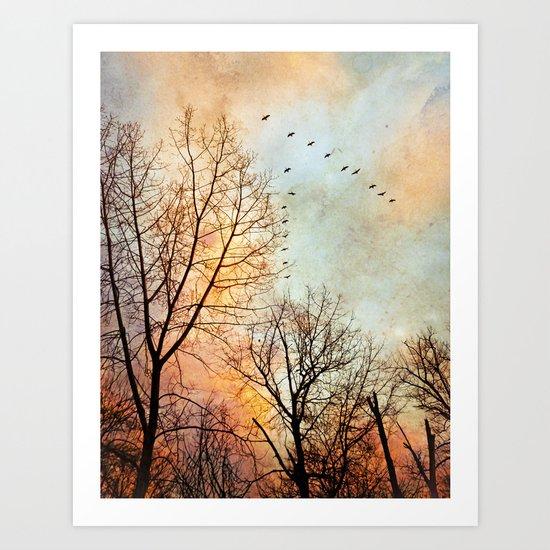 January Journey Art Print