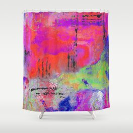Mixed Media Abstract 2 Shower Curtain