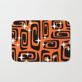 Mid Century Modern Cosmic Galaxies 435 Black and Orange Bath Mat