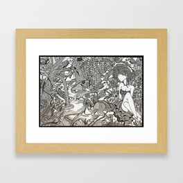 Faceless sisters - Maahy Framed Art Print