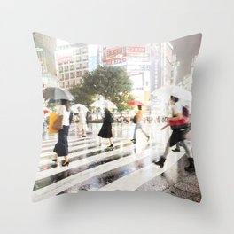 The Shibuya Crossing Throw Pillow