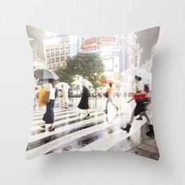 The Shibuya Crossing Throw Pillow