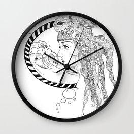 Octopus Woman Wall Clock