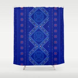 Sweet Winter Blues Shower Curtain