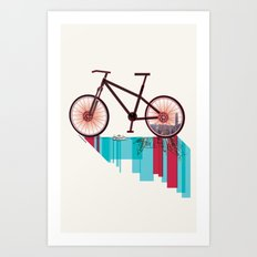 Discover Hong Kong Bicycle Art Print