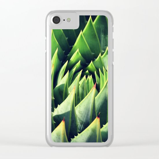 Pokey Succulent Clear iPhone Case