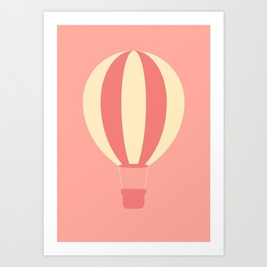 #84 Hot Air Balloon Art Print