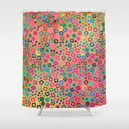 dp065-4 floral pattern Shower Curtain