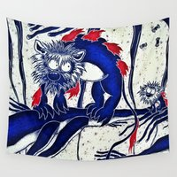 hunting Wall Tapestries featuring The First Hunting by Yukska