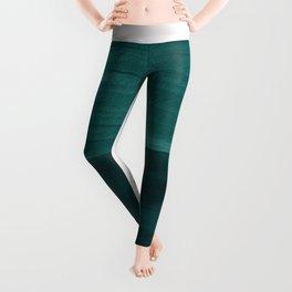 Dark Teal Emerald Abstract Minimalism #3 #minimal #ink #decor #art #society6 Leggings