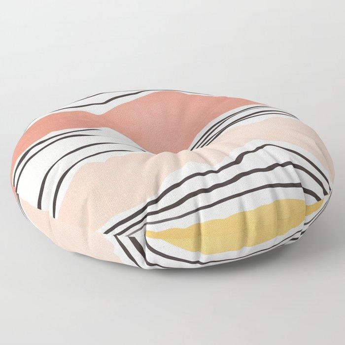 Modern irregular Stripes 01 Floor Pillow