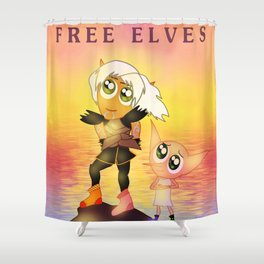 Free Elves Shower Curtain