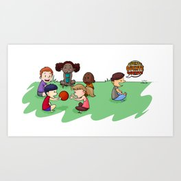 Children playing Art Print