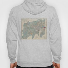 Vintage Map of Tokyo and Mt. Fuji Japan (1843) Hoody
