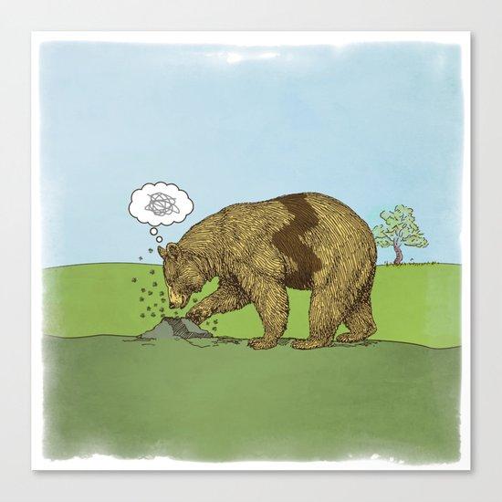 Charlie Brown Bear Canvas Print
